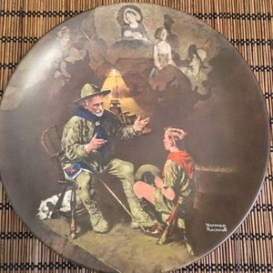 The Old Scout Norman Rockwell Plate